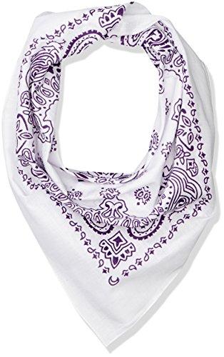 MasterDis Bandana pour Femme Taille Unique Blanc/Violet