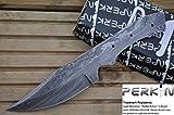Perkin Knives - Hoja de acero Damasco para hacer su propio cuchillo de caza