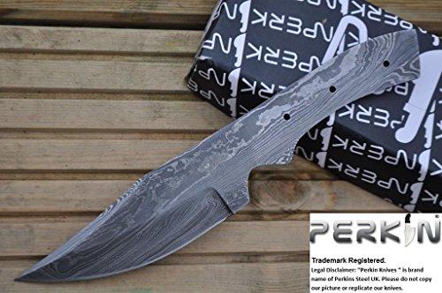 Perkin Knives Damast Stahlblatt für Ihre eigenen Jagdmesser