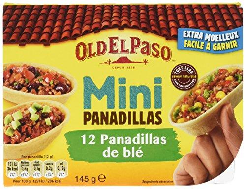 Old El Paso - 12 Mini Panadilla de Blé Nature 145 g - Lot de 3