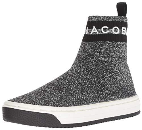 Marc Jacobs Women's Dart Sock Sneaker, Silver/Multi, 37 M EU (7 US)