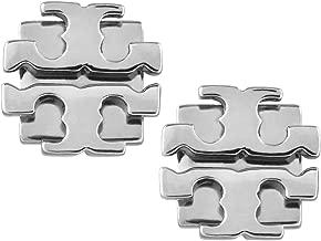 Tory Burch Small T Logo Stud Earrings Silver