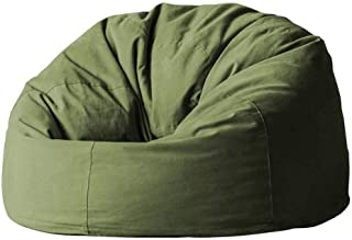 Cozy Bean Bag Chair Seat Lazy Sofa Lounger Heat-resistant Anti-fouling Outdoor Garden Suitable For Games  Color Army Green  Size 80cm