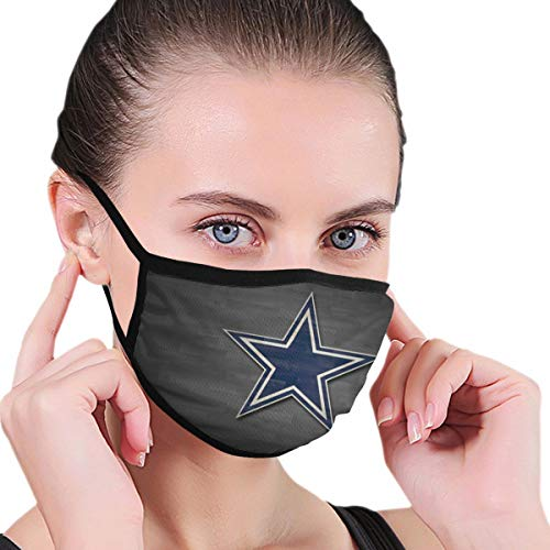 Face Mask Washable Reusable Breathable Dallas Football Fans Cowboy Windproof Mouth-Muffle Mouth Mask