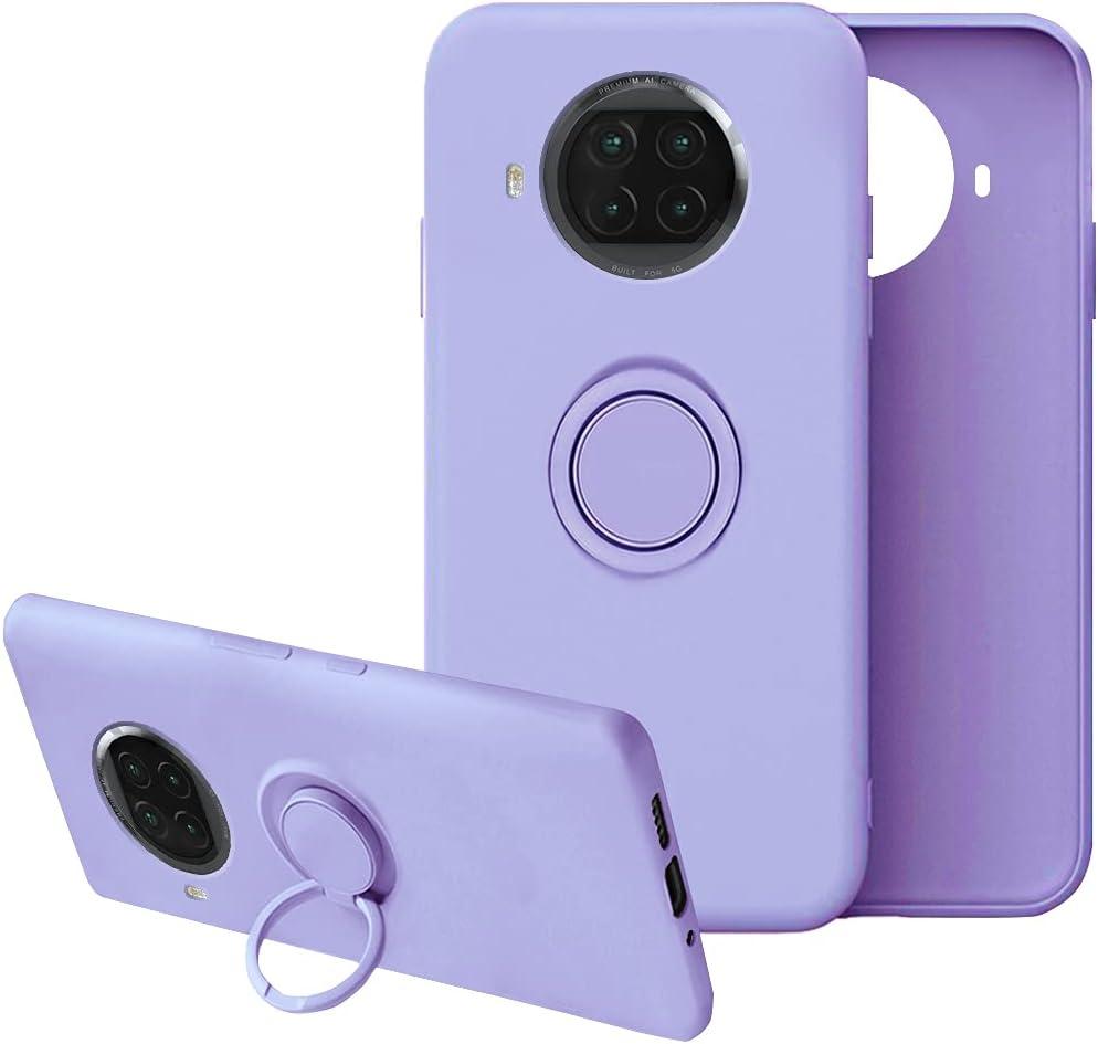 Funda para Xiaomi Mi 10t Lite 5g,Funda Xiaomi Mi 10t Lite Silicona Case Antigolpes Gel de sílice líquido Carcasa Compatible con Posterior Magnético Iman (10T Lite, Púrpura)