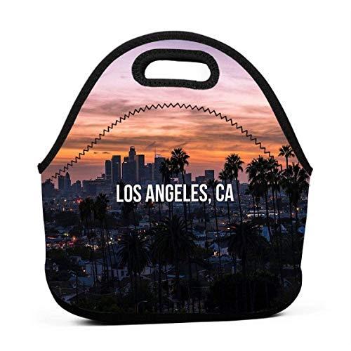 XCNGG Los Ángeles California Hombres Mujeres Niños Bolsa de almuerzo aislada Tote Fiambrera reutilizable para el trabajo Escuela de picnic