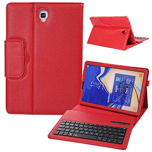 GHC PAD Cases & Covers For Samsung Galaxy Tab S4 10.5 inch, Litchi Pattern Leather Flip Stand Case Case Wireless Bluetooth Keyboard Case For Samsung Galaxy Tab S4 10.5 inch SM-T830 SM-T835