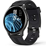 Smart Watch, AGPTEK IP68 Waterproof Smartwatch for Men Women Activity Tracker with Full Touch Color Screen Heart Rate Monitor Pedometer Sleep Monitor for Android and iOS Phones, Black