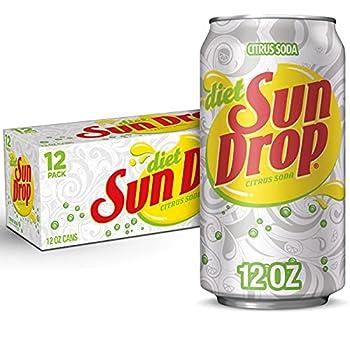 Diet Sun Drop Citrus Soda 12 Fluid Ounce Can 12 Count
