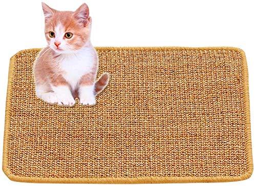 GZGZADMC Estera para Rascar el Gato, Almohadilla de Sisal Natural, Almohadilla para Gato, Garras de Afilar el Gato, Cuidado de Las Patas del Gato Juguete