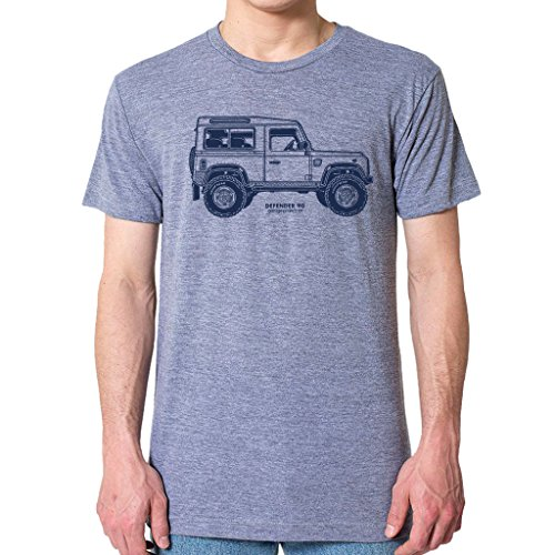 Price comparison product image GarageProject101 Classic Defender Side T-Shirt (XXL,  Athletic Gray)