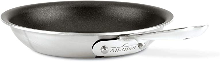 All-Clad BD55108NSR2 D5 Brushed 18/10 Stainless Steel 5-Ply Bonded Dishwasher Safe Nonstick Fry Pan Saute Pan Cookware, 8-...