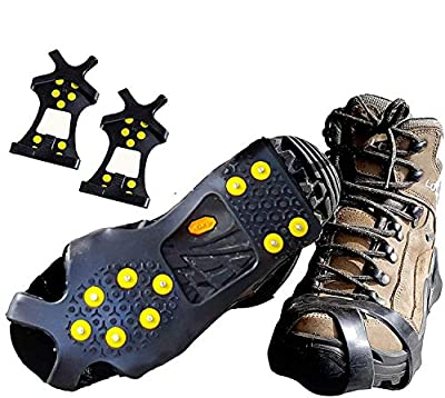 Limm Crampons Ice Walking Traction Cleats - Large Lightweight Ice Cleats for Snow & Ice - Anti Slip Shoe Grips Quickly & Easily Over Footwear - Portable Ice Grippers for Shoes and Boots