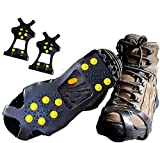 Limm Crampons Ice Walking Traction Cleats - Medium Lightweight Ice Cleats for Snow & Ice - Anti Slip Shoe Grips Quickly & Easily Over Footwear - Portable Ice Grippers for Shoes and Boots