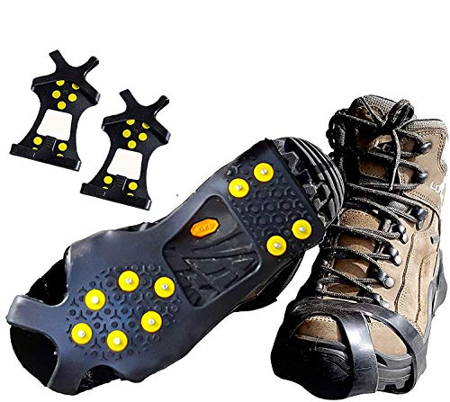 Limm Crampons Ice Traction Cleats Large - Lightweight Traction Cleats for Walking on Snow & Ice - Anti Slip Shoe Grips Quickly & Easily Over Footwear...