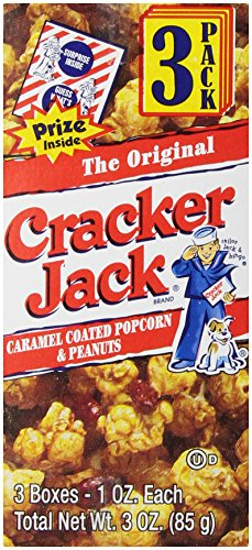 For Sale! Cracker Jack Popcorn & Peanuts, Caramel Coated (3 Count, 1 Oz Each)