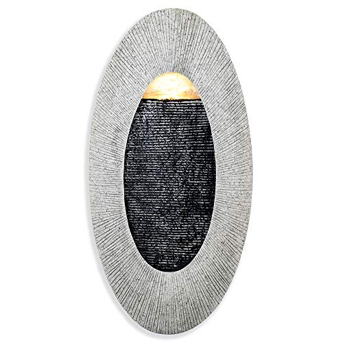 "Oval, Indoor/Outdoor Wall Fountain 23"" x 12"" 