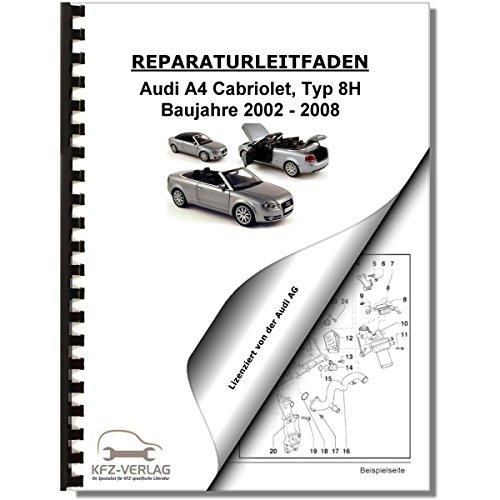Audi A4 Cabriolet (02-08) Karosserie Montagearbeiten Innen - Reparaturanleitung