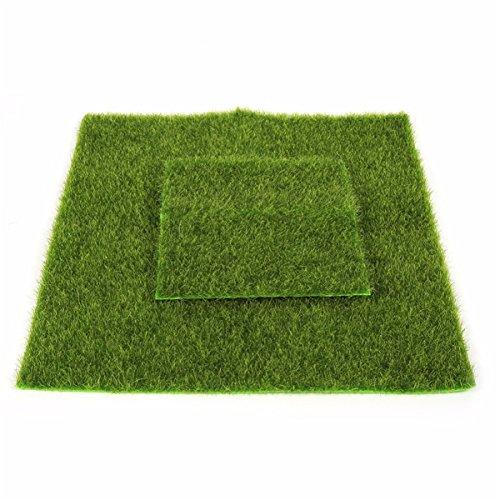 Herbe en Plastique Artificielle Intérieure et Extérieure Sports Flooring Garden Landscape Home Decoration,6in*6in