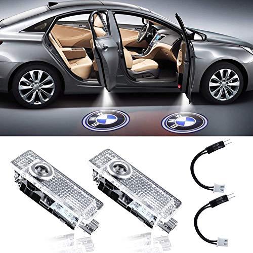 PRXD LED Autotürlichtprojektor mit freundlicher Genehmigung von LED Laser Welcome Lights Ghost Shadow Light Logo Kompatibel mit BMW Zubehör X1 / X3 / X4 / X6 / 3/4/5/6/7 / Z/GT-Serie (2 Stück)