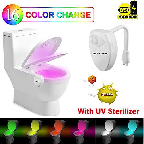 WC Luz Baño,3D.Mr.Señor [Versión Última ]16 Colores