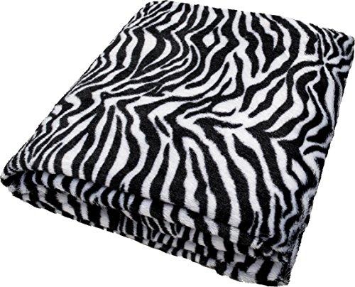 daydream Kuscheldecke im Zebra Design (Kunstfell) 150x200 (K-9001) für Frauen & Männer , Topseller seit 5 Jahren, für Sofa Sessel & Bett , weiche flauschige Wohndecke , Sofadecke , Reisedecke , Decke