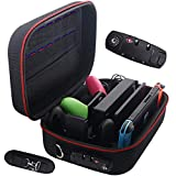 Storage Case for Nintendo Switch,Protective Hardshell Large Switch Carry Case with Anti-Theft TSA Combination Lock for Switch Console, Pro Controller, Switch Dock, AC Adapter with 16 Game Cards