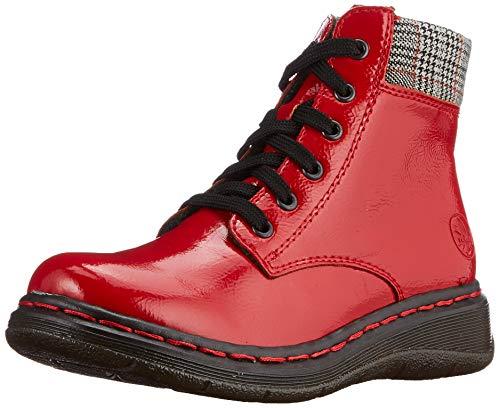 Rieker Damen Y3212 Mode-Stiefel, Flamme/grau-rost 33, 39 EU