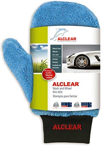 ALCLEAR 950013 Gant de Nettoyage en Microfibre extrêmement Soyeux pour Roues de Voiture Bleu