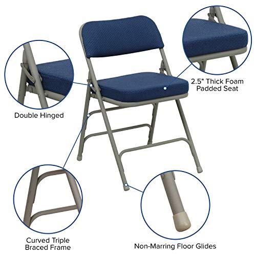 Dimensions of Flash Furniture HERCULES Cushioned Metal Folding Chair