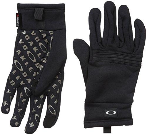 Oakley Guantes de Forro Polar Diamondback para Hombre, Color Negro Azabache, M