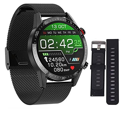 ADH L13 Smart Watch GT05 Uomo ECG + PPG Impermeabile Bluetooth Call Pressione sanguigna Moda Braccialetto da Polso Braccialetto Fitness SmartWatch PK L7 per Android iOS,F