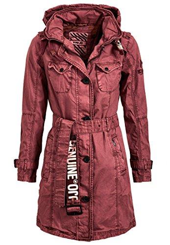 khujo Damen Übergangsjacke, Farbe:Bordeaux;Größe:S