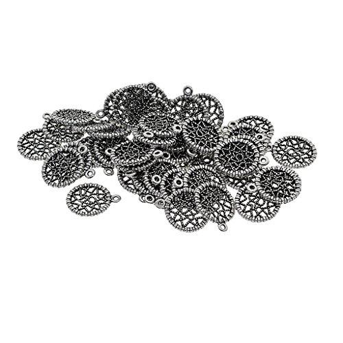 yotijar Wholesale 50 Delicate Dreamcatcher Beaded Charm Pendant