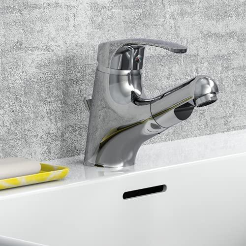 EISL Vico EHM de lavabo con ducha extraíble, 1pieza, ni075tco