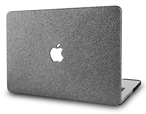 KECC MacBook Pro 13' Case (2020/2019/2018/2017/2016) Plastic Hard Shell Cover A2289/A2251/A2159/A1989/A1706/A1708 with/without Touch Bar (Grey Sparkling)