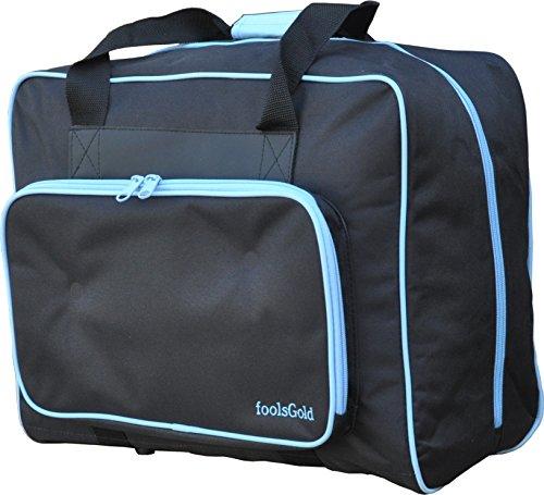 foolsGold Bolsa Acolchada para Transportar la Máquina de Coser - Negro Azul