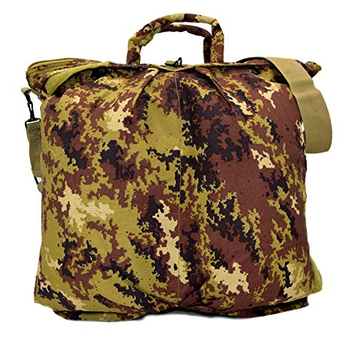 BORSA PORTA CASCO DA VOLO PILOTA MILITARE FLIGHT HELMET BAG (CAMO VEGETATO)