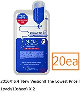 Mediheal メディヒール N.M.F アクアリング アンプル・マスクパック 10枚入り*2 (Aquaring Ampoule Essential Mask Pack 1box(10sheet)*2 [並行輸入品]