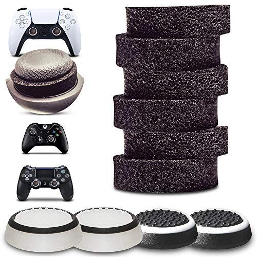 MatoSan - Thumbstick Stoßdämpfer + Kappen Zubehör-Set | Aim Kontrolle & Assist für Playstation 5, Playstation 4, Xbox, Switch - Controller Sticks | FPS Boost + Grip