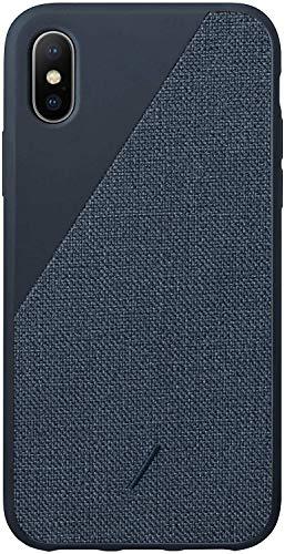 Native Union Clic Canvas Hülle- Hochwertige Gewebebeschichtung- kompatibel mit iPhone X/XS (Blau)