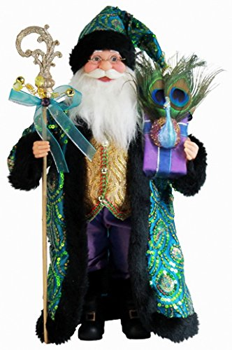 Windy Hill Collection 16' Inch Standing Stunning Sequin Santa Claus Christmas Figurine Figure Decoration 167220