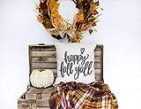 Lplpol - Funda de almohada de lona para decoración de casa de campo, decoración de otoño, 20 x 20 pulgadas, para sala de estar, sofá y cama