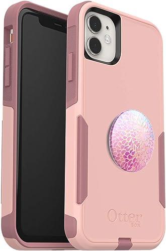 Bundle: OtterBox COMMUTER SERIES Case for iPhone 11 - (BALLET WAY) + PopSockets PopGrip - (PETAL POWER)
