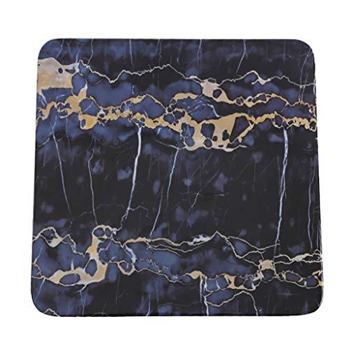 XXLCJ La Placa de Postre Vajilla De Melamina Mármol Textura imitación Plato de Porcelana Cuadrado de bistec Sushi Occidental (Size : 25.5 * 25.5cm)