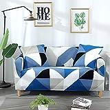ASCV Fundas Protectoras de sofá geométricas Sala de Estar Fundas elásticas elásticas para sofá de Esquina seccionales A8 1 Plaza