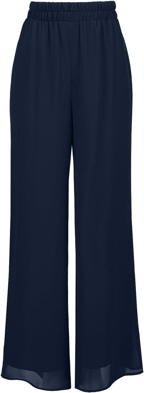 NE PEOPLE Women's Plus Size Wide Leg Palazzo/Chiffon Casual Pants 1XL-3XL