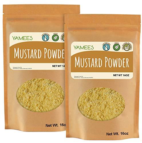 Yamees Mustard Powder - 2 Bags - 28 Oz – BULK Ground Mustard – Mustard Seed Powder - Dry Yellow Mustard - BULK Spices