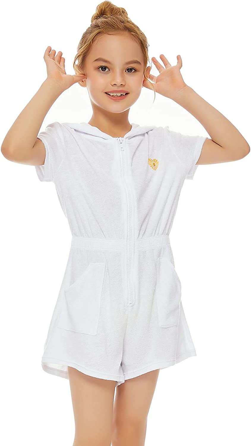 Talgat Cover-Up for Girls Hooded Terry Swim Cover Up