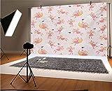 Fondo de vinilo para fotografía de princesa, 7 x 5 pies, patrón con hadas voladoras en la luna montar cisne mágico fondo para foto fondo, estudio, fondo, fondo, pared